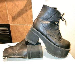 DEMONIA Ranger Goth Grunge Punk Platform Boots